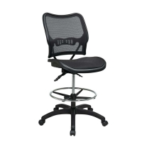 Deluxe Dark AirGrid Drafting Chair with Dual Function Control