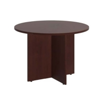 Bush 42 inch Round Conference Table Harvest Cherry