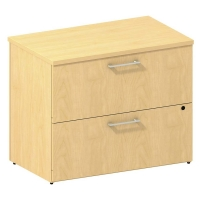 *AVAIL 2/5 Bush 300 Series 36 inch 2 Drawer Lateral File - Natural Maple