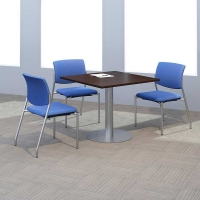 Bush 36 inch Square Conference Table Kit - Mocha Cherry