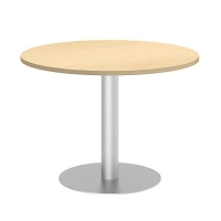Bush 42 inch Round Conference Table Kit - Natural Maple