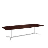 Bush 120 inch Rectangle Conference Table Kit - Harvest Cherry