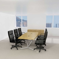 Bush 120 inch Rectangle Conference Table Kit - Modern Cherry