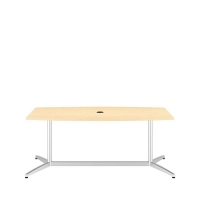 *AVAIL 1/9 Bush 72 inch Rectangle Conference Table Kit - Natural Maple