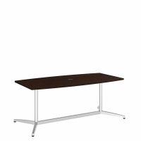 Bush 72 inch Rectangle Conference Table Kit - Mocha Cherry
