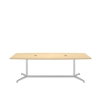 Bush 96 inch Rectangle Conference Table Kit - Natural Maple
