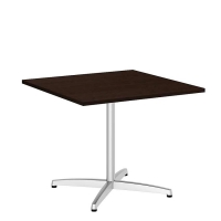 Bush 36 inch Square Conference Table X Base - Mocha Cherry