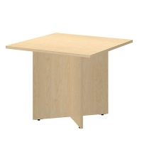 Bush 36 inch Square Conference Table Wood Base - Natural Maple