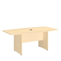 Bush 72 inch Rectangle Conference Table Wood Base - Natural Maple