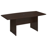 Bush 72 inch Rectangle Conference Table Wood Base - Mocha Cherry