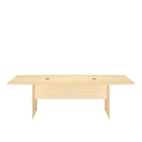 Bush 96 inch Rectangle Conference Table Wood Base - Natural Maple