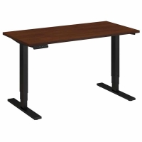 Bush 48x24 inch Adjustable Height Table - Hansen Cherry