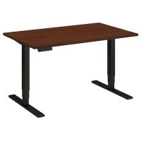 Bush 48x30 inch Adjustable Height Table - Hansen Cherry