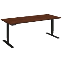 Bush 72x30 inch Adjustable Height Table - Hansen Cherry