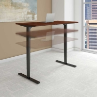 Bush Move 80 Series 72x30 inch Adjustable Height Table - Hansen Cherry