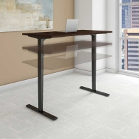 Bush Move 80 Series 60x30 inch Adjustable Height Table - Mocha Cherry