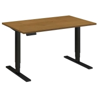 Bush 48x30 inch Adjustable Height Table - Natural Cherry
