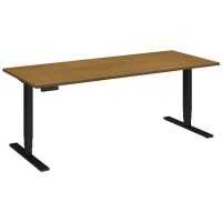 Bush 72x30 inch Adjustable Height Table - Natural Cherry