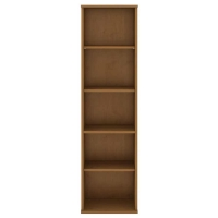 Bush 5 Shelf Narrow Bookcase - Natural Cherry