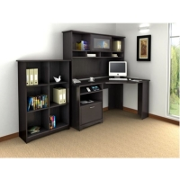 *AVAIL 11/24 Bush Cabot L Desk with Hutch and Bookcase