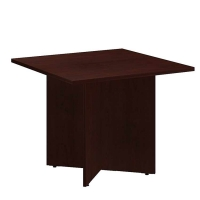 Bush 36 inch Square Conference Table Wood Base - Harvest Cherry