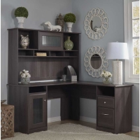 Bush Cabot L Desk and Hutch