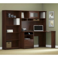 *Avail 11/23 Bush Cabot Corner Desk Set with Bookcase - Harvest Cherry
