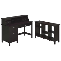 Bush Broadview Single Pedestal Desk and Organizer - Espresso