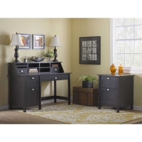 Bush Broadview Single Pedestal Desk and Organizer with Lateral File
