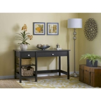 Bush Broadview Open Storage Desk in Espresso