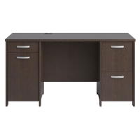 Bush Envoy Collection Double Pedestal Desk Mocha Cherry