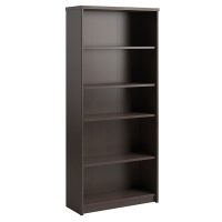 Bush Envoy Collection 5-Shelf Bookcase  Mocha Cherry