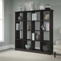 Bush Cabot 16 Cube Bookcase - Espresso Oak