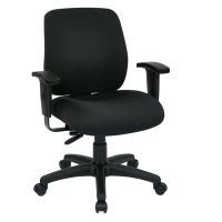 Office Star Deluxe Task Chair with Height Adjustment Back & Arms - Pick Your Fabric