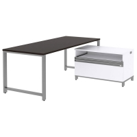 Bush Momentum 72x30 Desk with 24H Piler Filer - Mocha Cherry