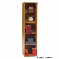 Bush Series C Open Single Bookcase  Natural Cherry