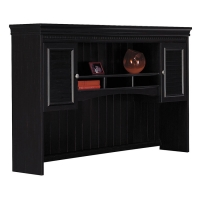 Bush Fairview Antique Black Hutch for L Desk