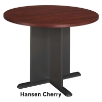 Bush 42 inch Round Conference Table - Hansen Cherry