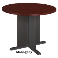 Bush 42 inch Round Conference Table - Mahogany