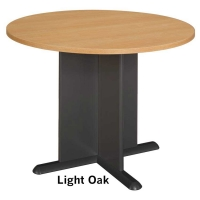 Bush 42 inch Round Conference Table - Light Oak