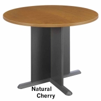 Bush 42 inch Round Conference Table - Natural Cherry