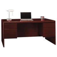 Bush Northfield Double Pedestal Desk - Harvest Cherry