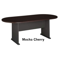 Bush Racetrack Conference Table 82 W x 35 D  Mocha Cherry