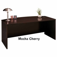 Bush Series C 72 inch Bow Front Desk - Mocha Cherry