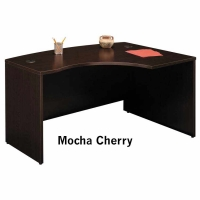 Bush Series C 60 inch Right L-Bow Desk  Mocha Cherry