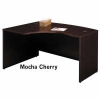Bush Series C 60 inch Left L-Bow Desk  Mocha Cherry