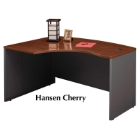 Bush Series C 60 inch Left L-Bow Desk - Hansen Cherry
