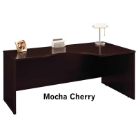 Bush Series C 72 inch Right Corner Module  Mocha Cherry