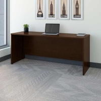Bush Series C 72W Credenza Desk in Mocha Cherry