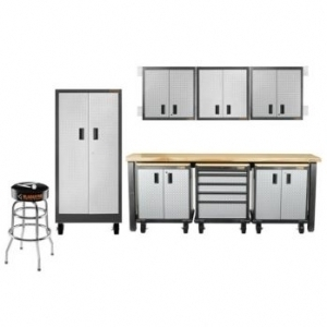 Gladiator garageworks garage cabinet group 14pc premier for Premier garage cabinets
